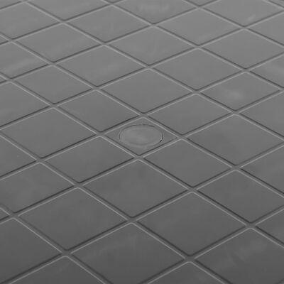 vidaXL Tuintafel 89 cm kunststof antraciet