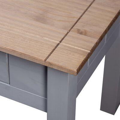 vidaXL Nachtkastje Panama Range 50,5x50,5x52,5 cm grenenhout grijs