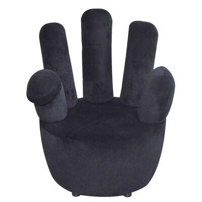 vidaXL Stoel handvormig fluweel zwart