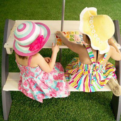 AXI Picknicktafel voor kinderen Kylo grijs en wit A031.021.00