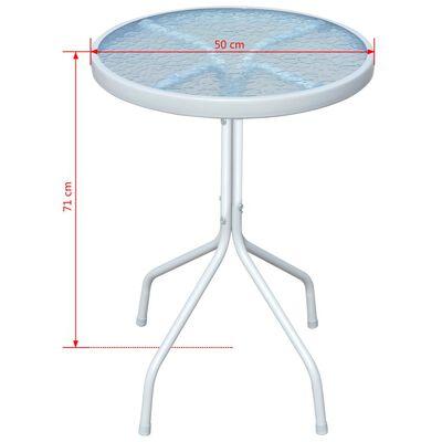 vidaXL Bistrotafel 50x71 cm staal grijs
