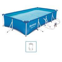 Bestway Steel Pro Zwembadset rechthoekig 400x211x81 cm 56424