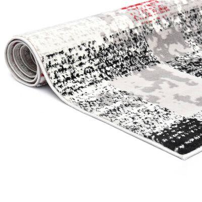 vidaXL Vloerkleed 160x230 cm PP grijs en rood