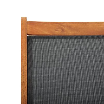 vidaXL Ligbed massief acaciahout en textileen