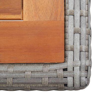 vidaXL Tuintafel poly rattan en massief acaciahout antraciet