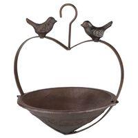 HI Vogelvoederhuisje hartvormig 22 cm bruin