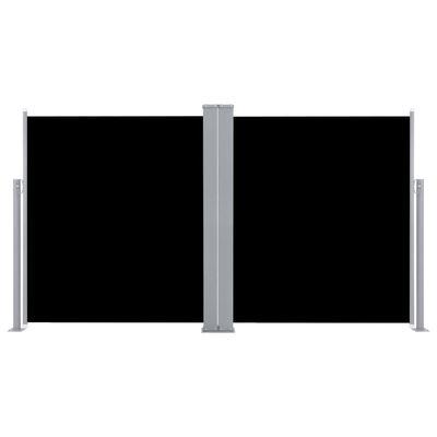 vidaXL Windscherm uittrekbaar 140x600 cm zwart