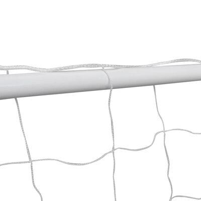 vidaXL Voetbaldoelen 2 st met netten 182x61x122 cm staal wit