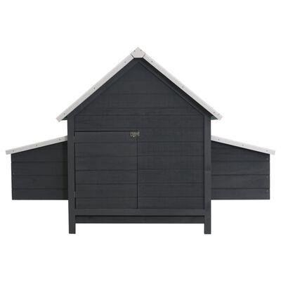vidaXL Kippenhok 157x97x110 cm hout grijs