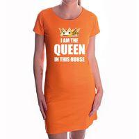 Im the queen in this house met gouden kroon oranje jurk voor dames -