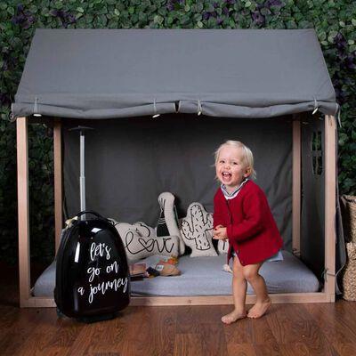 CHILDHOME Hoes voor huisbedframe 150x80x140 cm antraciet