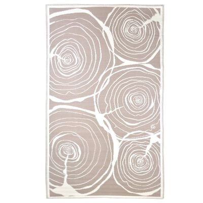 Esschert Design Buitenkleed jaarringen 240x150 cm