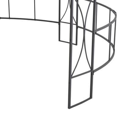 vidaXL Prieel rond 300x290 cm taupe