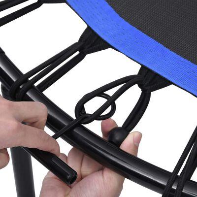 vidaXL Fitnesstrampoline met handgreep en veiligheidsmat 122 cm