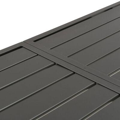 vidaXL Tuintafel 180x83x72 cm staal donkergrijs