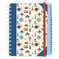 Moses reisdagboek 18,5 x 14 cm blauw/wit
