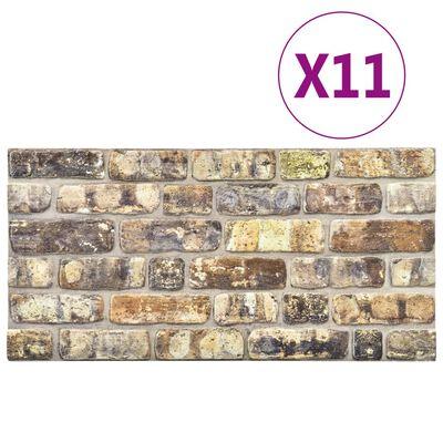 vidaXL 11 st Wandpanelen 3D meerkleurige baksteen EPS