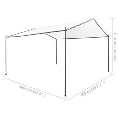 vidaXL Tuinprieel 180 g/m² 400x400x260 cm wit