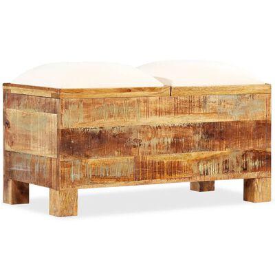 vidaXL Opslagbankje 80x40x40 cm massief gerecycled hout