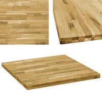 vidaXL Tafelblad vierkant 44 mm 80x80 cm massief eikenhout