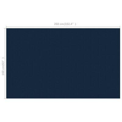 vidaXL Zwembadfolie solar drijvend 260x160 cm PE zwart en blauw