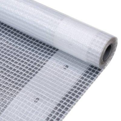 vidaXL Leno dekzeil 260 g/m² 3x15 m wit