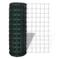 vidaXL Euro hek 25x1,5 m staal groen