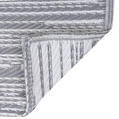 vidaXL Buitenkleed 120x180 cm PP grijs