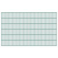 vidaXL Dubbelstaafmatten 2,008x1,23 m 14 m (totale lengte) groen