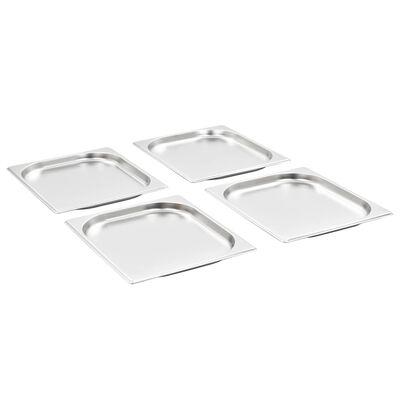 vidaXL Gastronormbakken 8 st GN 1/2 20 mm roestvrij staal