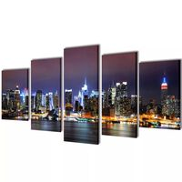 Canvasdoeken kleurrijke New York skyline 200 x 100 cm