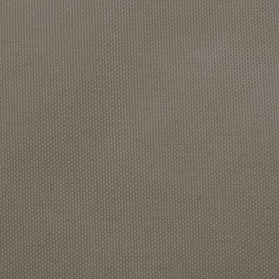 vidaXL Zonnescherm vierkant 6x6 m oxford stof taupe