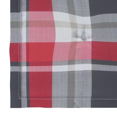 vidaXL Tuinstoelkussens 6 st ruitpatroon 50x50x4 cm stof rood