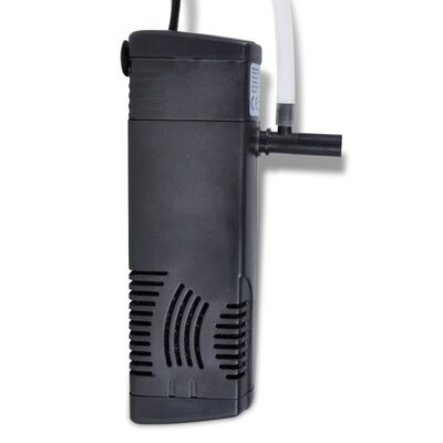 vidaXL Aquariumfilterpomp met actief koolstof 300 L/u