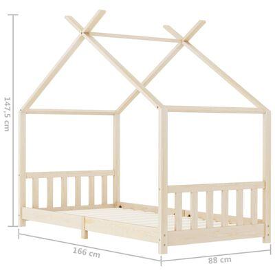 vidaXL Kinderbedframe massief grenenhout 80x160 cm