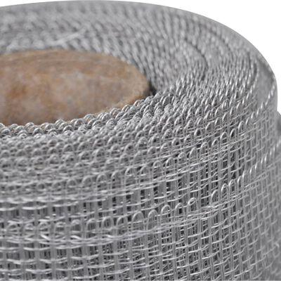 vidaXL Gaas 150x500 cm aluminium zilverkleurig