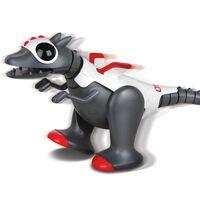 Happy People Robo Dragon lopende robot 35 cm grijs/wit/rood