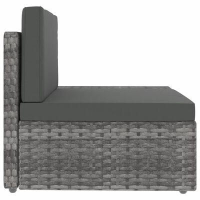 vidaXL 4-delige Loungeset poly rattan grijs
