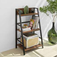 Sobuy Str01-n Boekenkast 3-laags Ladderplank Voor Woonkamer Kantoor