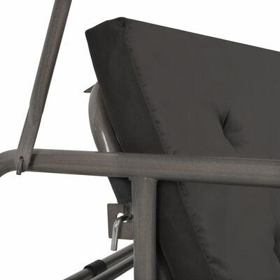 vidaXL Schommelbank voor buiten met dak 198x120x205 cm staal antraciet