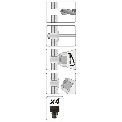 YATO Klinknageltang 2-beks 2,4-4,8 mm