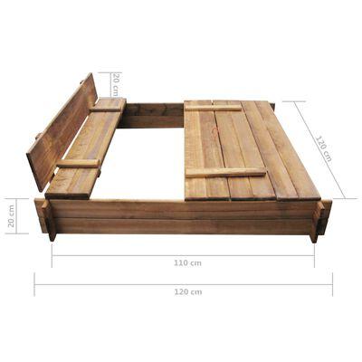 vidaXL Zandbak vierkant geïmpregneerd hout