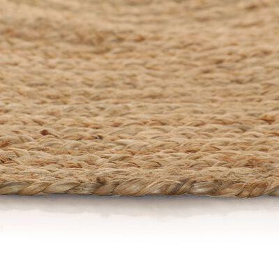 vidaXL Tapijt rond 150 cm gevlochten jute