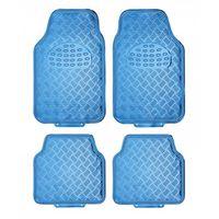 automattenset Alu-look universeel PVC blauw 4-delig