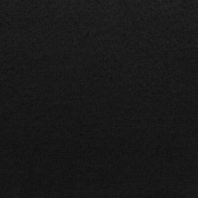 vidaXL Hoekbank sectioneel met kussen stof zwart