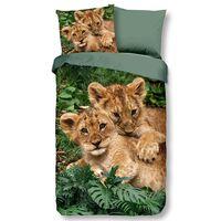 Good Morning Kinderdekbedovertrek LION CUBS 140x200/220 cm meerkleurig