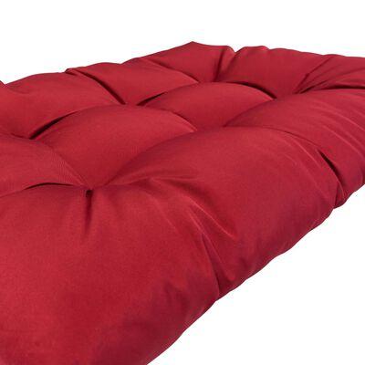 vidaXL Palletkussens 2 st polyester rood