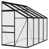 vidaXL Broeikas 5,02 m³ aluminium antracietkleurig