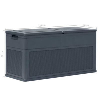 vidaXL Opbergbox 320 L antraciet