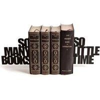 boekensteun So Many! 21,5 x 15 cm metaal zwart